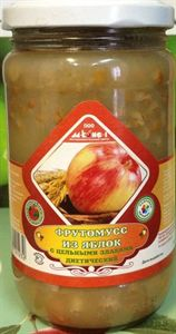 Изображение Фрутомусс из яблок с цельными злаками 450гр